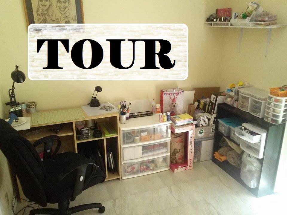 Tour de mi cuarto de manualidades muy pedido youtube - Como pinto mi habitacion ...