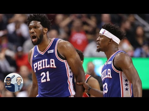 Does Joel Embiid play better when Jimmy Butler isn\'t on the floor? l Jalen & Jacoby