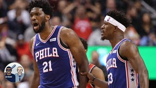 Does Joel Embiid play better when Jimmy Butler isn't on the floor? l Jalen & Jacoby