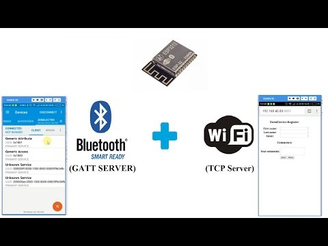ESp3212 BLE+WiFi : GATT Server + TCP Server : (BLE and WiFi