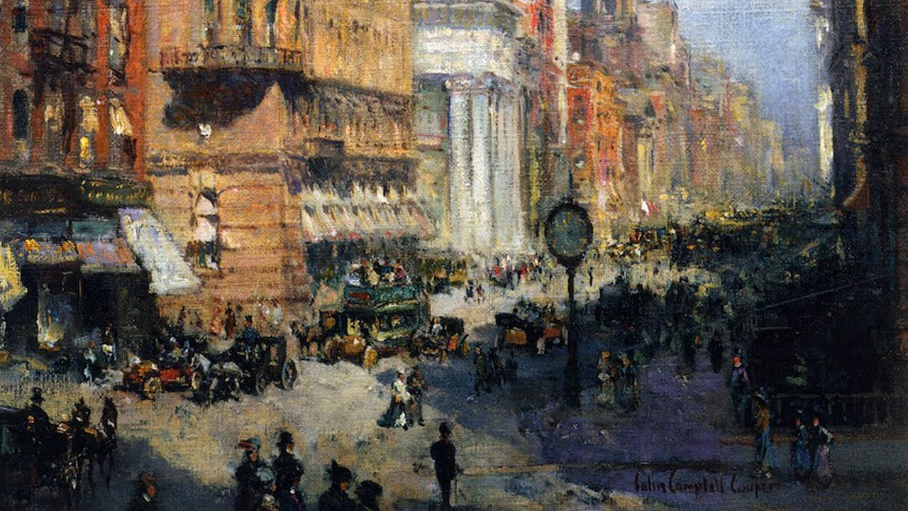 Colin Campbell Cooper NYC paintings   YouTube Colin Campbell Cooper NYC paintings