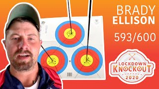 Brady Ellison shoots 593/600 for qualification | Lockdown Knockout