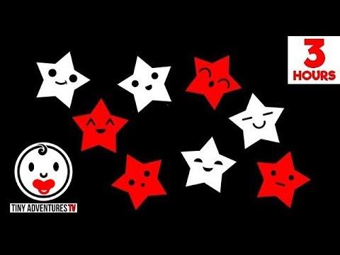Baby Sensory - Black White Red Animation - Sleepy Time Sleepy Star - 3 Hours Of Lullaby