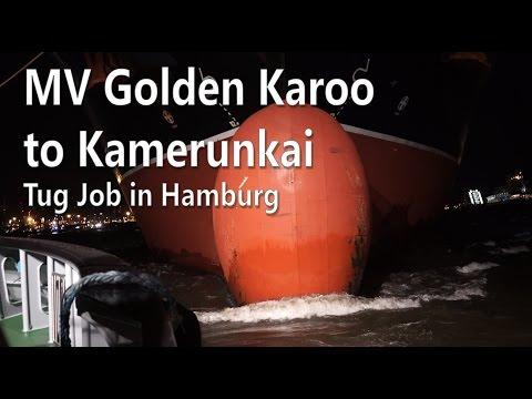 MV Golden Karoo in Hamburg - A Tug movie