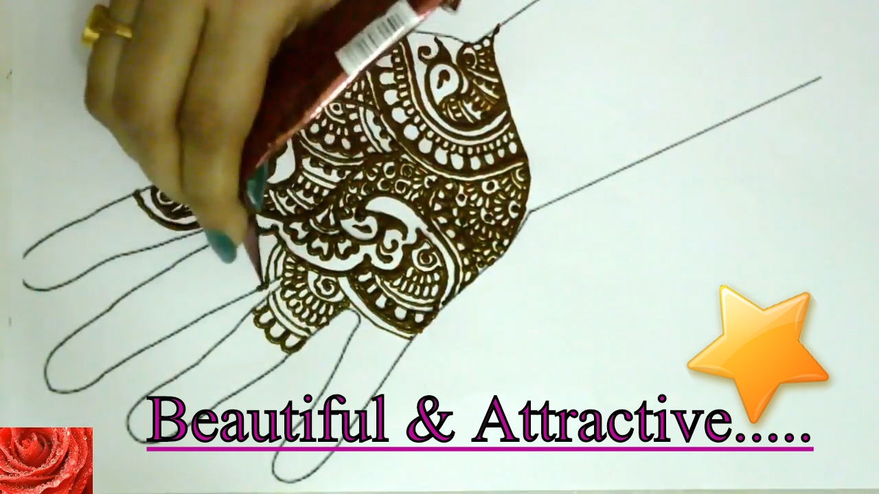 Mehndi Henna Applicator : How to apply easy mehndi design for hands begineers