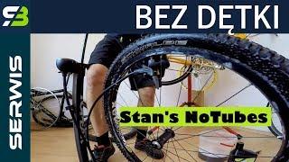 Montaż systemu bezdętkowego Stan's NoTubes w rowerze. Opona Schwalbe Racing Ralph
