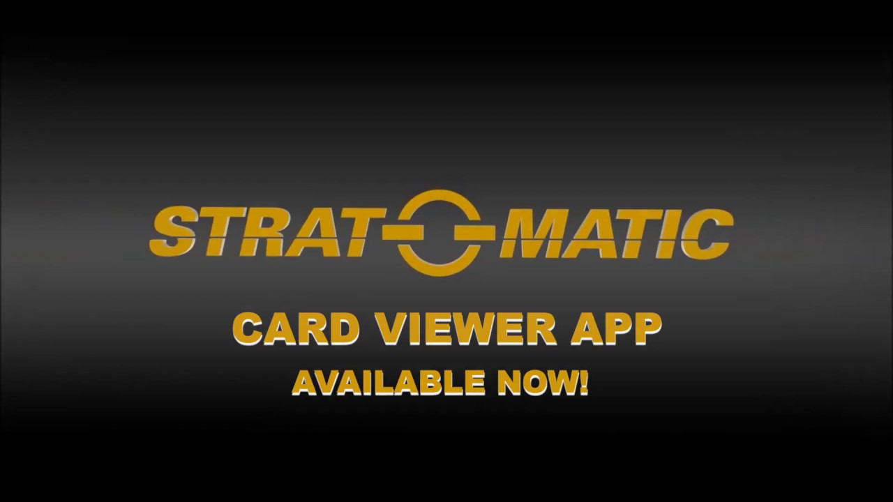 Strat O Matic Baseball Card Viewer App
