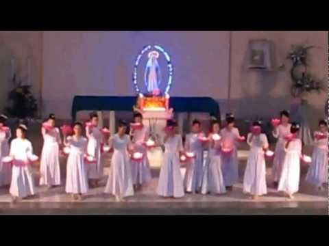 Dâng hoa kính Mẹ - Gx. Thánh Mẫu 2012 (nến)