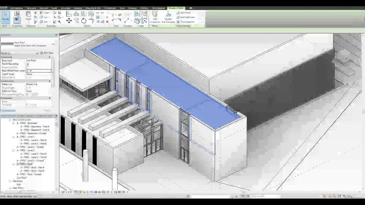 Revit Tutorial Roof Crickets And Flat Roofs Youtube