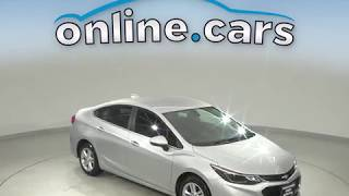 A10625TR Used 2017 Chevrolet Cruze LT FWD 4D Sedan Silver Test Drive, Review, For Sale