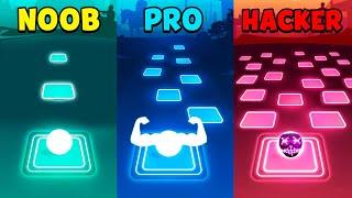 NOOB vs PRO vs HACKER - Tiles Hop: EDM Rush