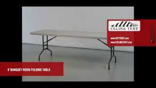 "8' X 30"" Banquet / Rectangle Resin Folding Tables"