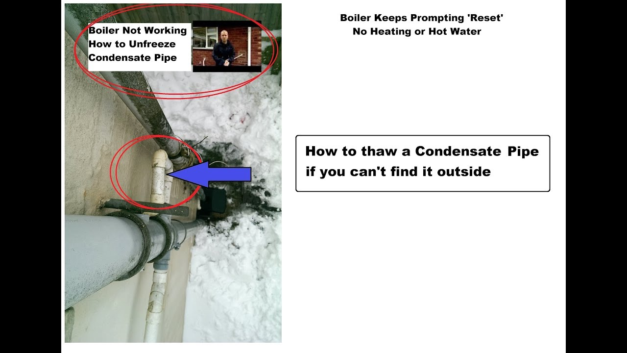 I CAN\'T find frozen Condensate Pipe OUTSIDE. How to find and thaw ...