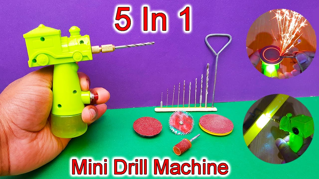Download How To Make Drill Machine At Home | Rechargeable Mini Drill Machine | Drill Machine School project