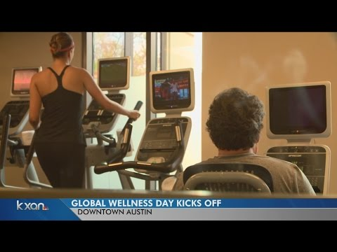 Global Wellness Day kicks off downtown