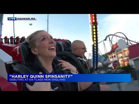 Six Flags New England: Harley Quinn Spinsanity ride