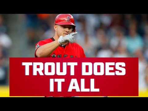 Mike Trout is LITERALLY doing it all this season