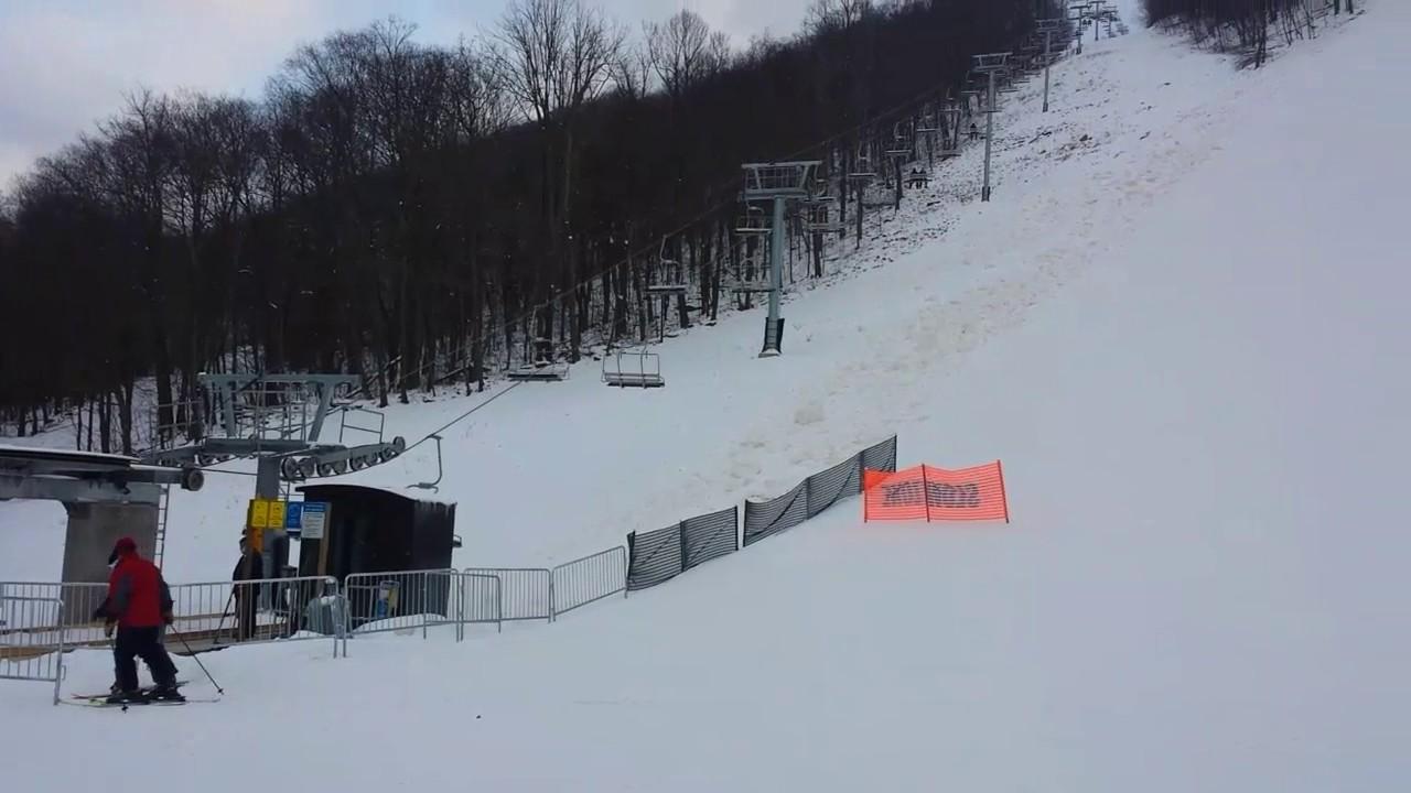 laurel mountain skiing jan 7th 2017 - youtube