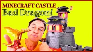 Repeat youtube video Minecraft Castle - BAD DRAGON Mountain! LEGO Toy Story. Videos for Kids. Children's Toy Castle
