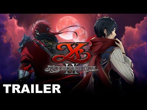 Ys IX: Monstrum Nox - Release Date Announcement Trailer (Nintendo Switch, PC)
