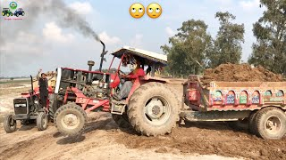 Tractor Stunt | MF 385 | Tractor Fail Complication | Soil loaded Trolley | Punjab Tractors