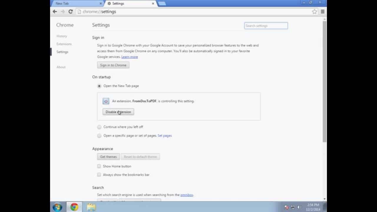 I want to restore my Google Chrome Homepage/New tab page ...