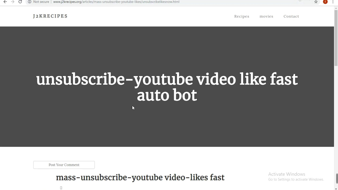 Youtube unsubscribe to how mass How To