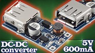 Повышающий DC-DC конвертер или стабилизатор напряжения с USB-выходом 5V 600mA. Aliexpress(Купить повышающий DC-DC конвертер или стабилизатор напряжения c USB-выходом на 5V 600mA можно здесь: http://ali.pub/zkhx5..., 2016-04-08T19:48:21.000Z)