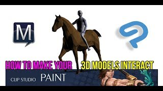 How to make 3d Models interact in ClipStudio EX