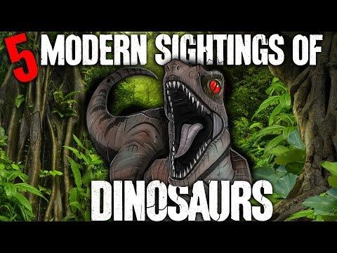 5 Modern Dinosaur Sightings!