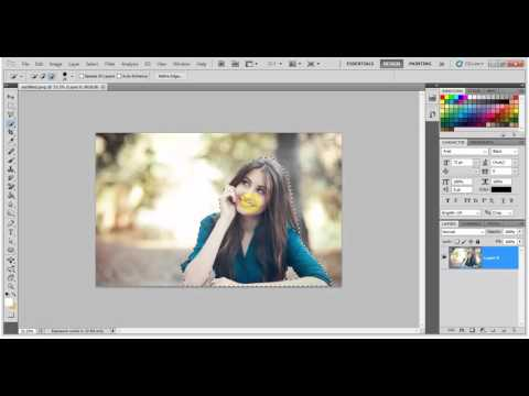 Adobe Photoshop Tutorial for beginners in hindi - change background photoshop cs5