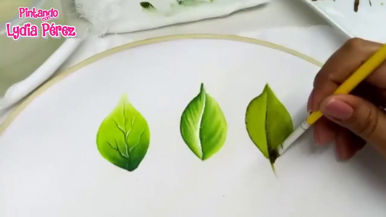 Como Pintar Hojas En Tela Fácil Painting On Fabric How To Paint Leaves
