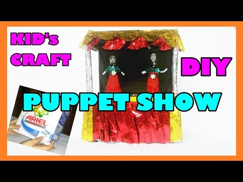 HOW TO MAKE Mini PUPPET SHOW For Kids_DIY RECYCLE CRAFT