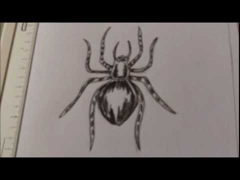 How To Draw A Creepy Spider Tattoo Idea Youtube