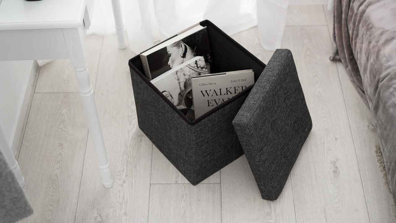 Faltbarer sitzwürfel aus polyester mit stauraum günstig online
