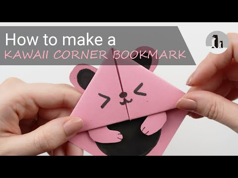 How to make a KAWAII corner bookmark  🐻 - for beginners - Crafting MIX