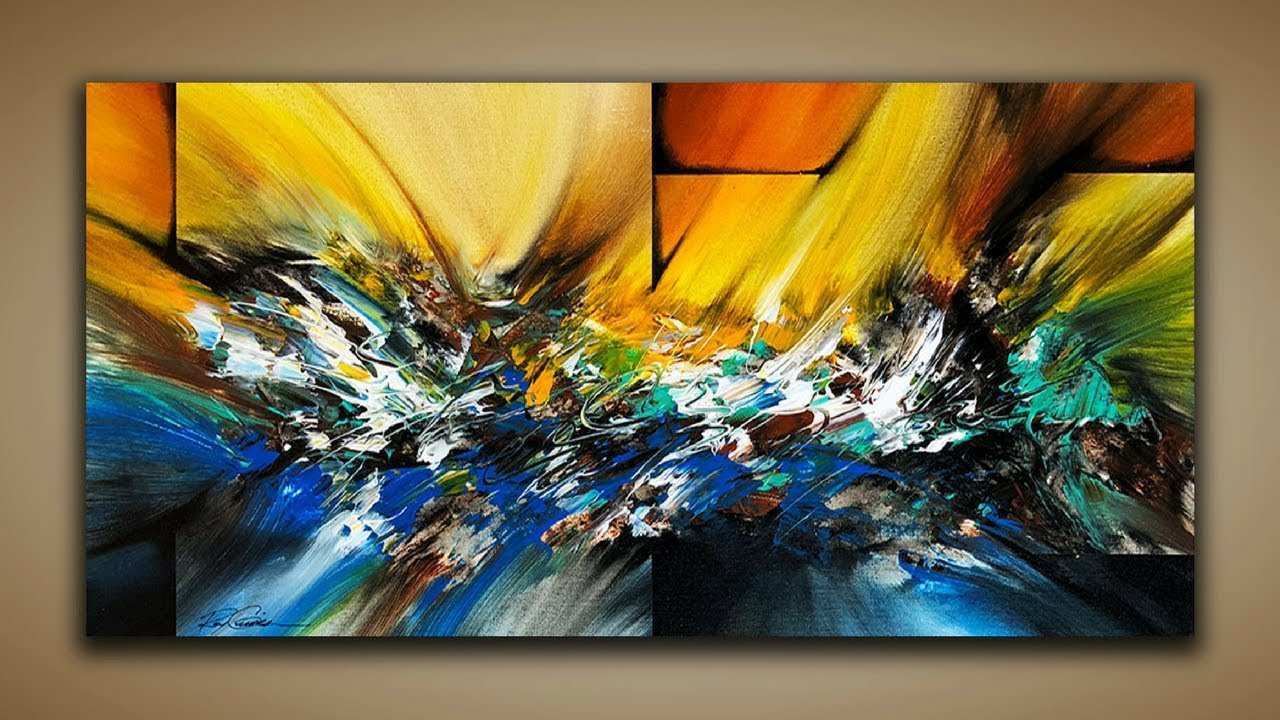 Abstract Painting / DEMO 65 / Abstract Art / How to Paint ...