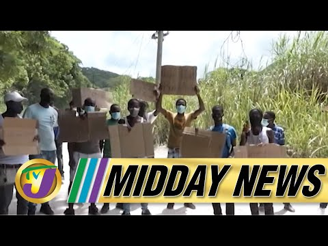 Glitch Today in Clansman Gang Trial   Poor Road Drive Taxi Strike in St. James   TVJ Midday News