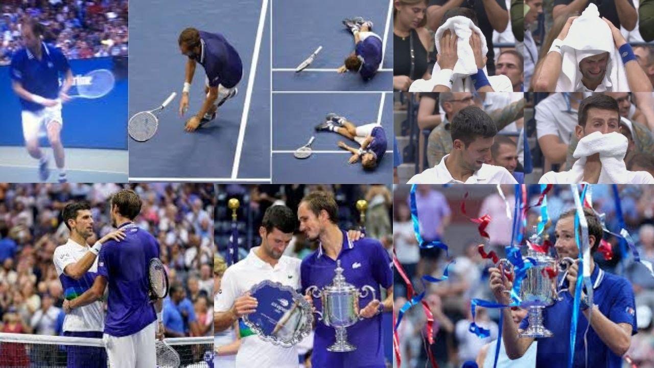 Medvedev falls on hard court, does 'dead fish' celebration after beating Djokovic