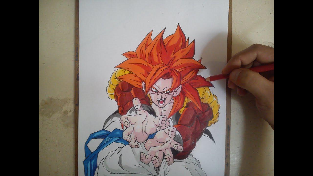 Como Dibujar A Gogeta Ssj4 How To Draw Gogeta Ssj4 Youtube