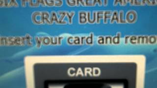 """Crazy Buffalo"" ATM at Six Flags Great America 8-15-2014"