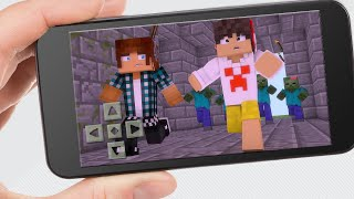 Minecraft PE : APOCALIPSE ZUMBI COM INSCRITOS ( Minecraft Pocket Edition)