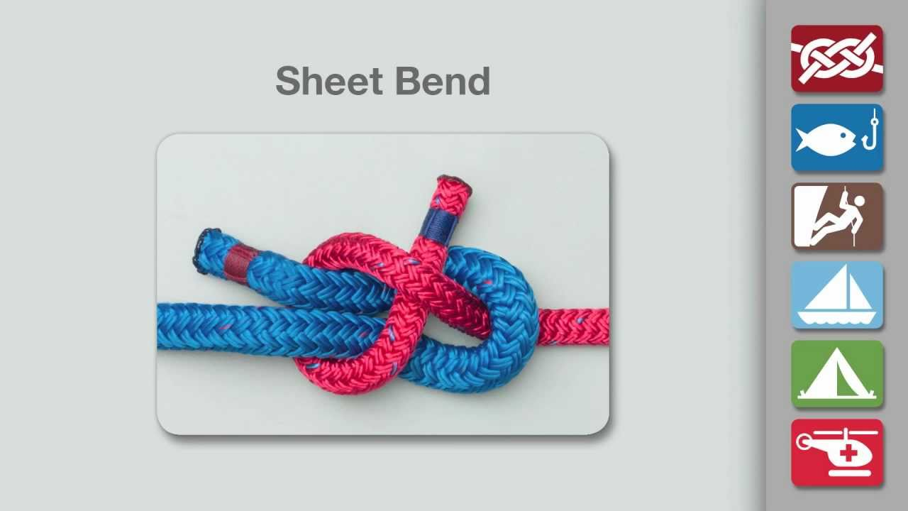 Sheet Bend Knot How To Tie A Youtube Tying Diagrams
