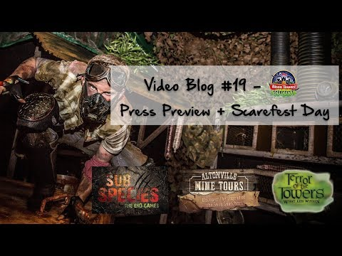 Video Blog #19 - Alton Towers Resort Scarefest 2017 Overview - Press Preview and a Scarefest Day