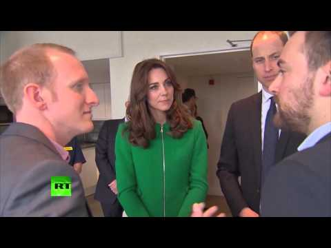 Wills and Kate meet 'Stranger on the Bridge' anti-suicide campaigners