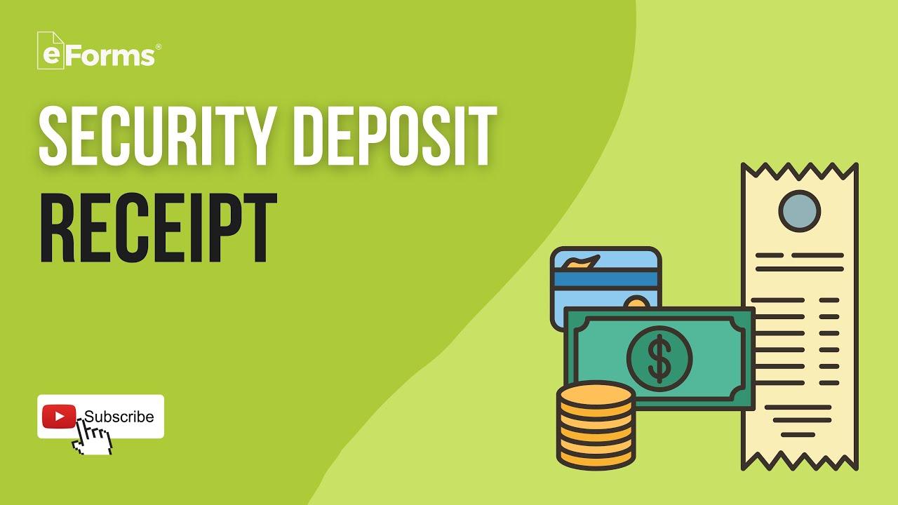 Free Security Deposit Receipt Template Pdf Word Eforms