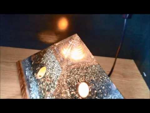 My New Orgone Pyramid Lamp