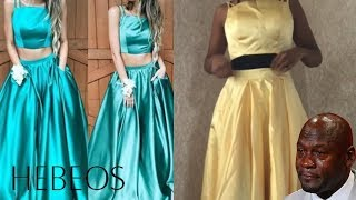 TRYING ON MY PROM DRESS (HEBEOS.COM) *biggest fail of my life*