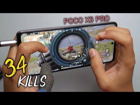 New!! Best Gameplay On POCO X3 Pro PUBG Handcam 5 Finger + Gyro Solo Vs Squad ( 2 Match 34 Kills )
