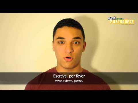 Học tiếng Bồ Đào Nha bài 4: Tiếng Bồ của tôi không giỏi